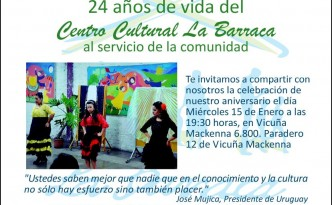 INVITACION LA BARRACA 24 AÑOS