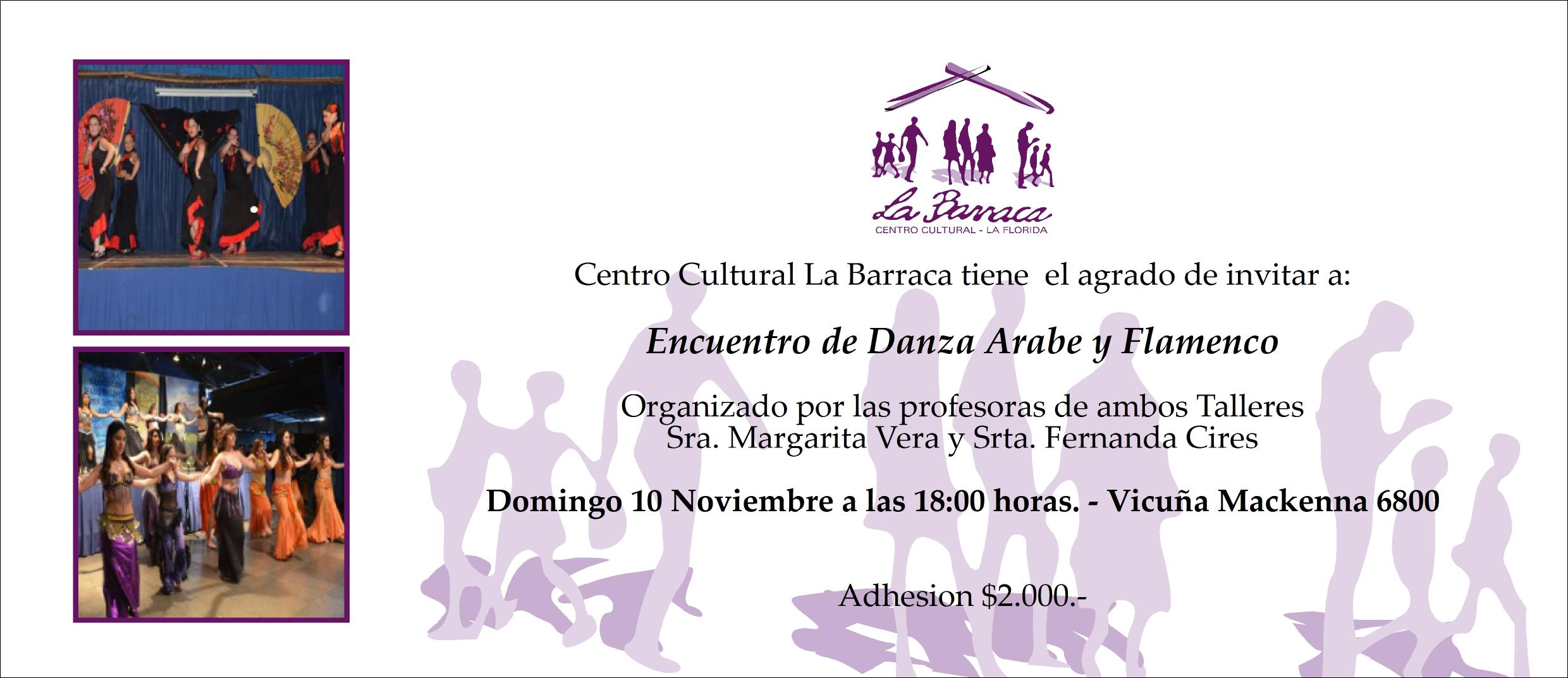 invitacion la barraca arabe y flamenco - nov2013